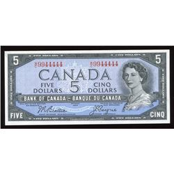 Bank of Canada $5, 1954 Fancy Serial Number