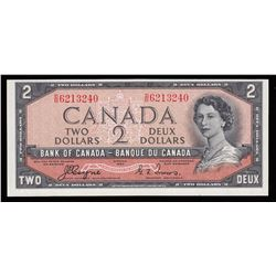 Bank of Canada $2, 1954 Devil's Face