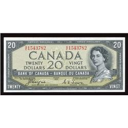 Bank of Canada $20, 1954 Devil's Face