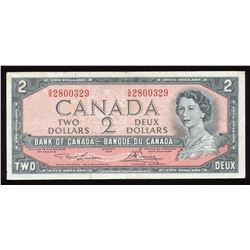 Bank of Canada $2, 1954 Test