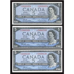 Bank of Canada $5, 1954 Replacement - Lot of 3