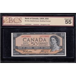 Bank of Canada $50, 1954 Changeover