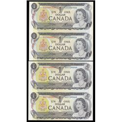 Bank of Canada $1, 1973 Replacement Notes - Lot of 2 Uncut Pairs