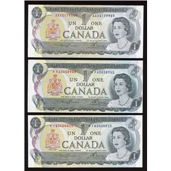 Bank of Canada $1, 1973 - Lot of 5 Replacements