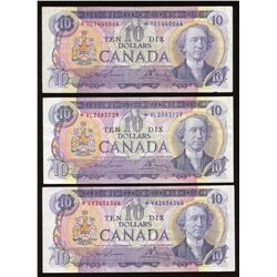 Bank of Canada $10, 1971 - Lot of 9 Replacements