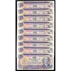 Bank of Canada $10, 1971 -Lot of 17