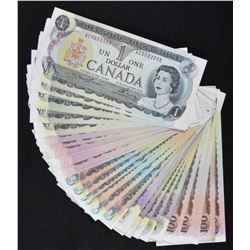 Large Lot of Bank of Canada Multi-Coloured Series