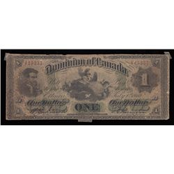 Dominion $1, 1870, Small Date, Contemporary Counterfeit