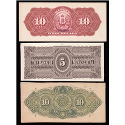 Lot of Three Colourful Back Proofs