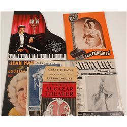 Vintage Theatre Booklets and Liberace Programs