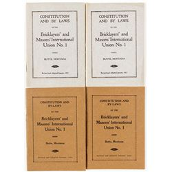 Bricklayers' and Masons' Union Books, Butte, Montana