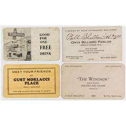 Four Different Montana Business Cards