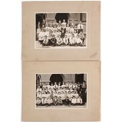Two Early Mounted Photographs of Reno Schoolchildren