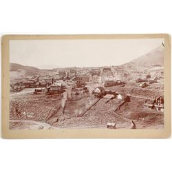 Choice Birds-Eye Mounted Photograph of Virginia City, Nevada