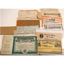 Eclectic Group of Nevada Ephemera