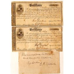 Two 1850s New York State Financial Documents
