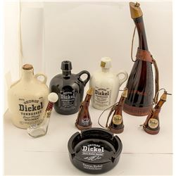 George Dickel Whiskey Glass Flasks, Ashtray, Jugs and More (9)