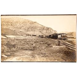 Rare Real Photo Postcard of Railroad Depot at Dragon, Utah (Gilsonite Ghost Town)