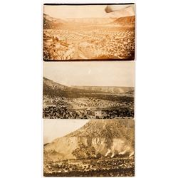 Three Real Photo Postcard overviews of Kenilworth, Utah