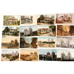 Utah Postcards: Mormon Temple, Tabernacle, & Other Structures