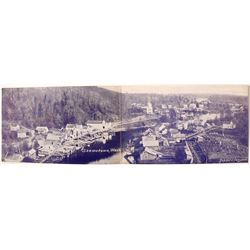 Fantastic 2-panel Panoramic Postcard of Skamokawa, Washington