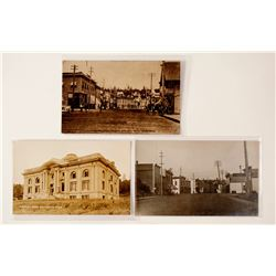 3 Scarce South Bend, Washington Real Photo Postcards