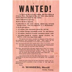 WANTED! Poster, Sheridan, Wyoming 1916