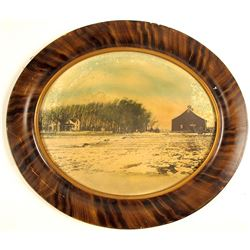 Unidentified Oval Landscape Photograph