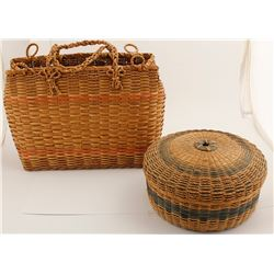 Colored Northeastern Basket Duo