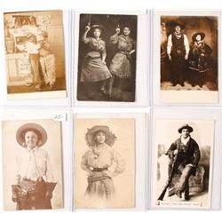 Western Cowboy and Cowgirl Studio Photo RPC's (6)