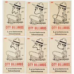 "City Billiards ""Smile!"" Cards (Lewiston, Montana)"