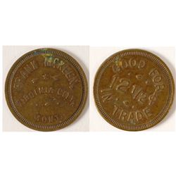 Frank McKeen Token, Virginia City, Montana