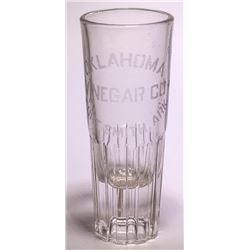Tall Fort Smith Etched Glass