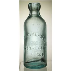 Joseph Beaman Soda Bottle, Central City, Colorado