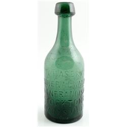 Chase & Co. Mineral Water Bottle, Three Cities (Stockton, San Francisco, & Marysville)