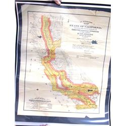 California Map Showing Territory Granted To Railroads