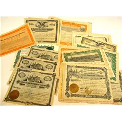 Oil Stock Certificate Group