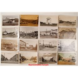 30 Different Washington Town Postcards