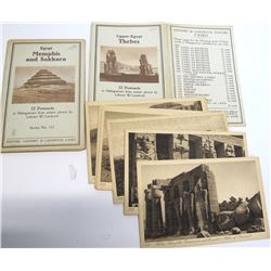 2 Egyptian Postcard Sets