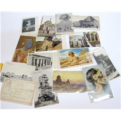 15 Egyptian Wonders Postcards with RPC