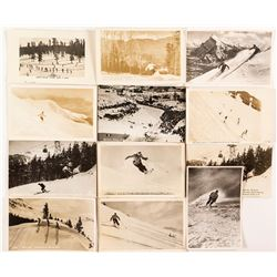 Twelve Skiers Racing Hard - All RPC Postcards