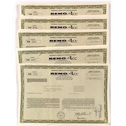 Reno Air Stock Certificates