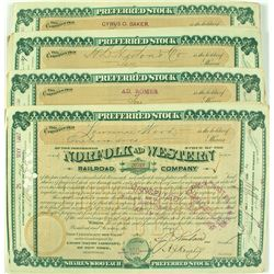 Norfolk and Western Railroad Company Stock Certificate Archive