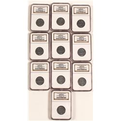 Corner Bar Kemmerer City 5c  MS 61 Tokens (10)