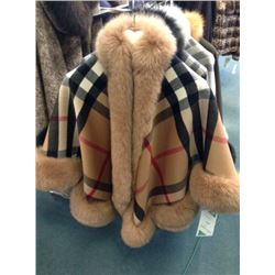 David Green Camel / Plaid Fox Cape