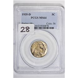 1935-D 5C Buffalo Nickel