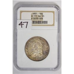1831 50C Capped Bust Half Dollar