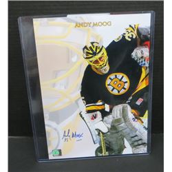 Andy Moog Boston Bruins Signed 10x14 Glossy