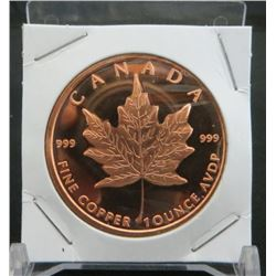 Canadian Maple Leaf Copper 1 Ounce Coin