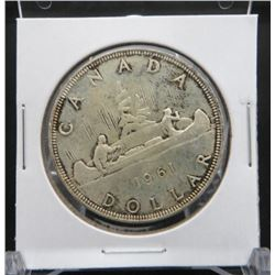 1961 Canadian Silver $1 Coin